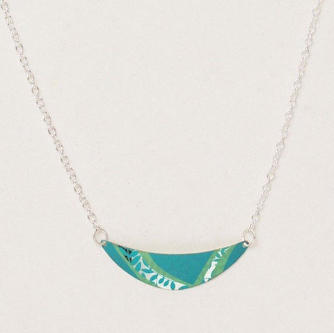 Necklace - Selena - Tidal Teal/Silver - 14912