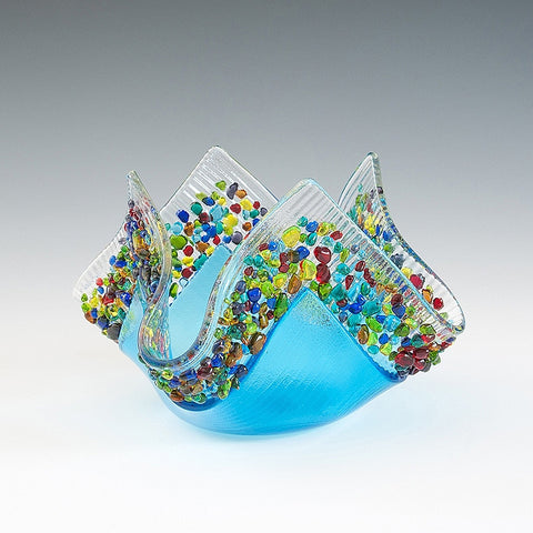 Glass Votive - Sky Blue