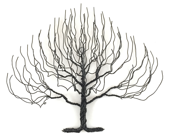 Small Regular Wire Tree - Black