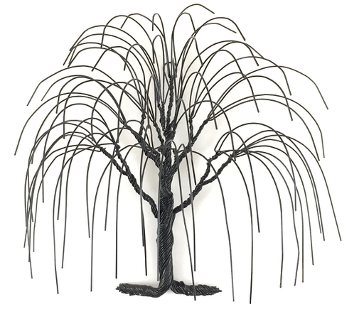 Small Willow Wire Tree - Black