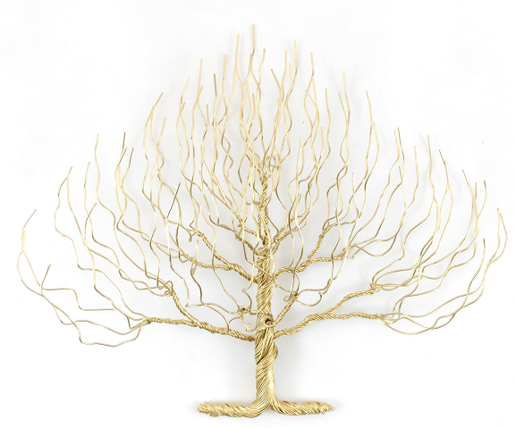 Small Regular Wire Tree - Gold