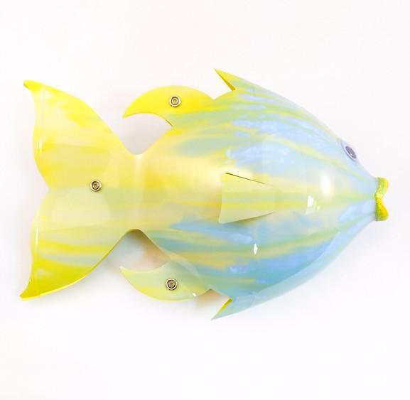 Soda Bottle Fish - Specked Trout - Aquas/Yellows