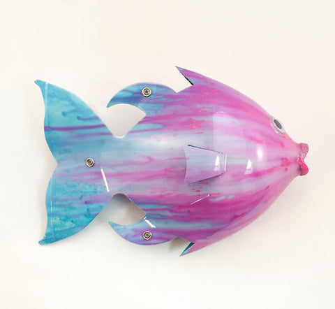 Soda Bottle Fish - Speckled Trout - Pinks/Aqua