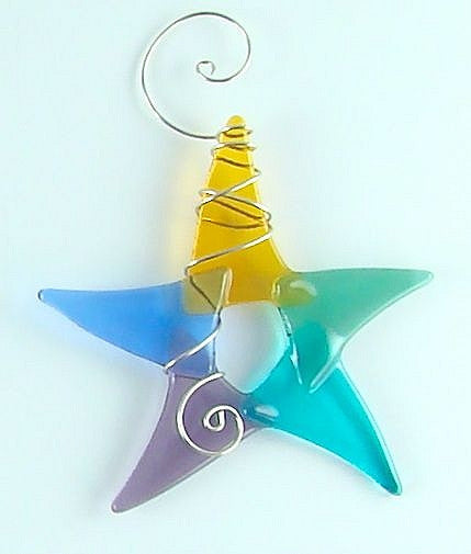Sun Catcher - Simple Star - Large - Pastel