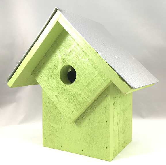 Bird House - Summer Home - Neon Green