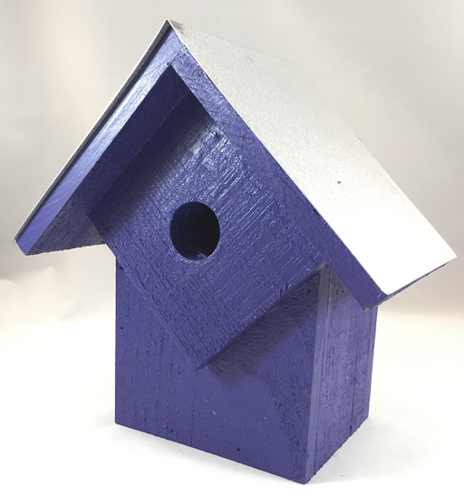 Bird House - Summer Home - Neon Purple