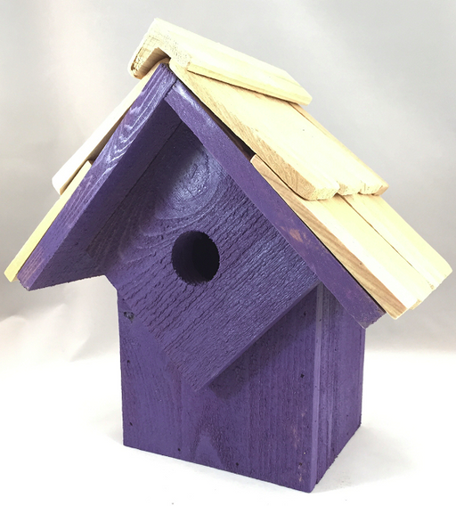 Bird House - Summer Home - Purple