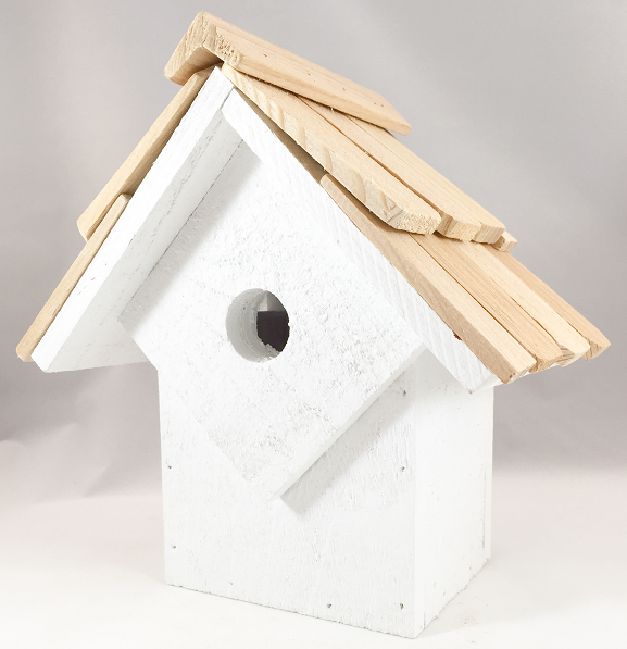 Bird House - Summer Home - Whitewashed