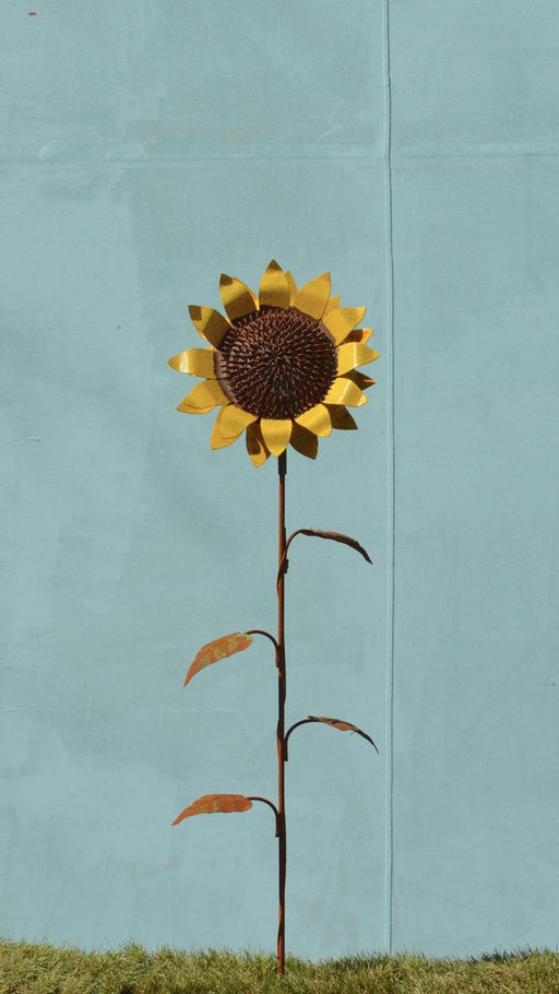 Garden Stake - Sunflower - Small - Painted
