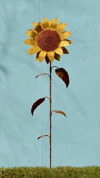 Garden Stake - Sunflower - Medium - Painted