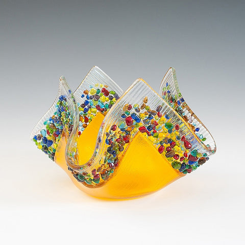 Glass Votive - Tangerine