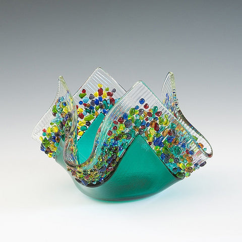 Glass Votive - Teal