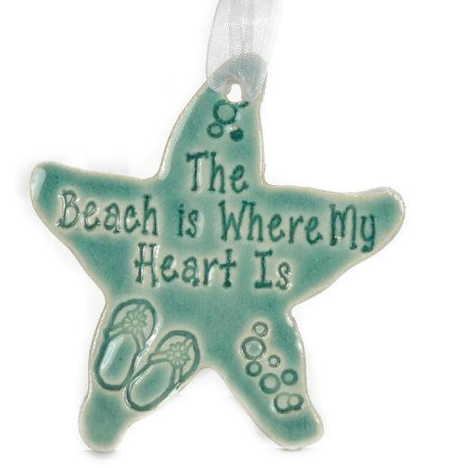 Ornament - The Beach is Where my Heart Is - Green
