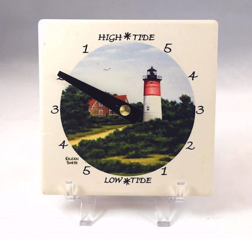 Tide Clock - Desk - Nauset Light - Black Hand