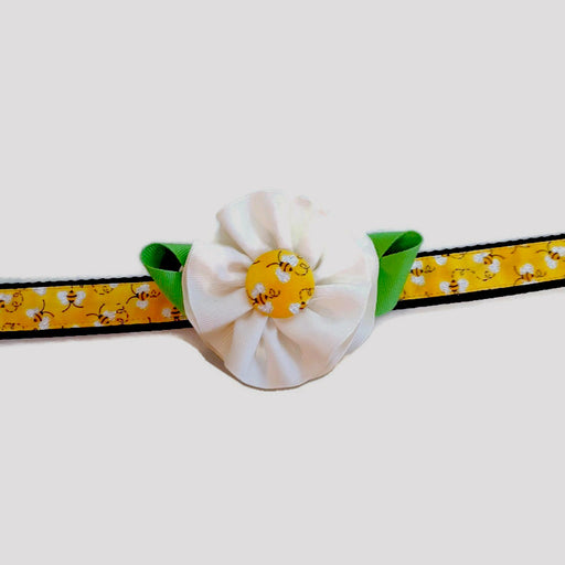 Dog Collar - Bee Flower - Extra Small