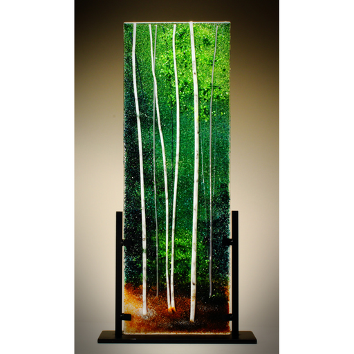 Glass Frit Painting - Forest Green - 105