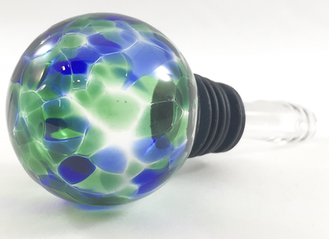 Wine Stopper - Blue Green