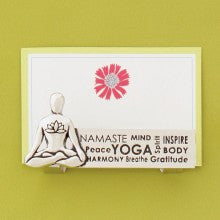 Business Card Holder - Yoga