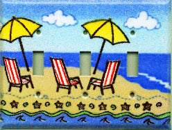 Switch Plate Cover - Triple - Beach