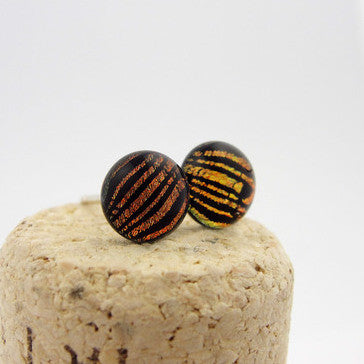 Earrings - Comic Genius Posts - Copper/Black - BM-711-SM