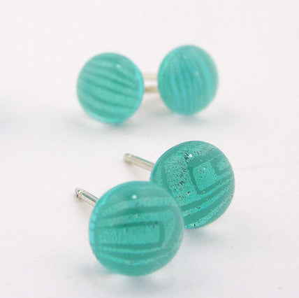 Earrings - Comic Genius Posts - Aqua - BM-740-SM