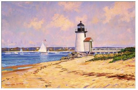 Gift Enclosure Card - Brant Point Light - 164