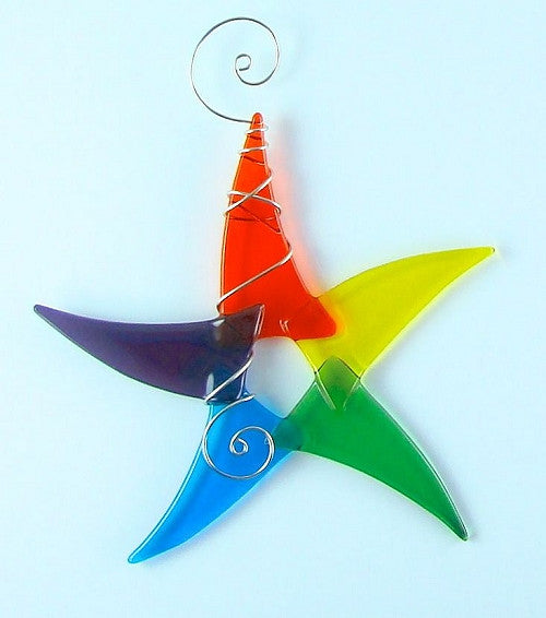 Sun Catcher - Simple Star - Small - Bright