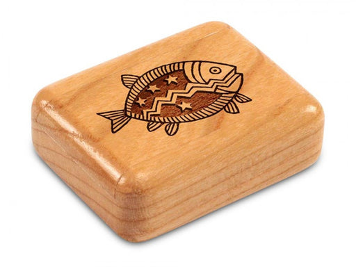 Secret Box - Laser Art - Fish - Cherry - 1/2x1 1/2x2 - SC0251-199