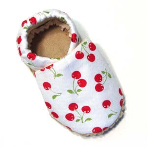Baby Shoes - 6-12 months - Cherries