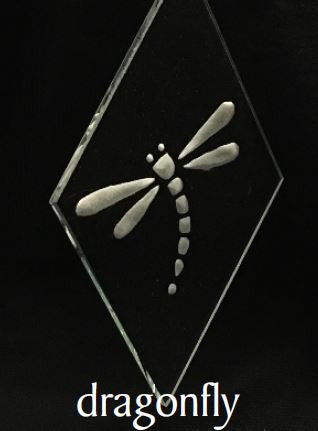 Ornament - 3x5 Bevel - Dragonfly
