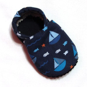 Baby Shoes - 0-6 months - Fishing Boats