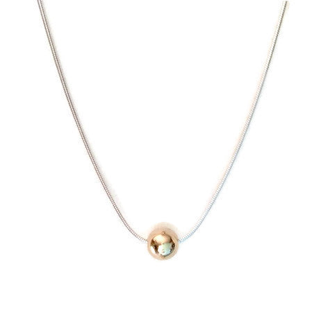 Necklace - Sterling Silver - GF Ball - 18 Inch - JG