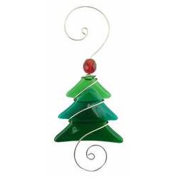 Ornament - Triangle Tree - 5 Inch - Greens