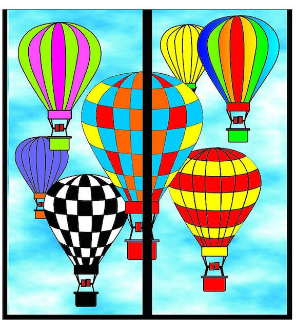 Magnetic Bookmark - Hot Air Balloons - MBK273