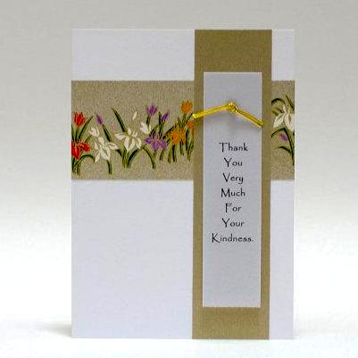 "Notecard - ""Thank You Very Much"" - Yuzen Flower Band"