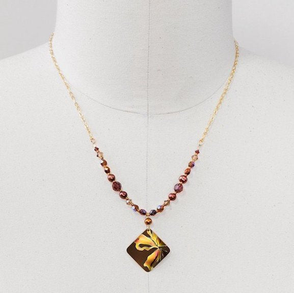 Necklace - Sedona - Brown/Peach - 96189