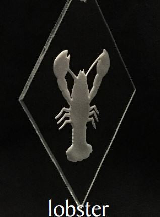Ornament - 3x5 Bevel - Lobster