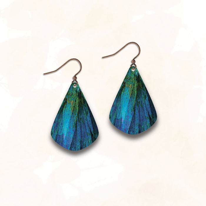 Earrings - Blue Green Dusk Waters Pick - ME10JE
