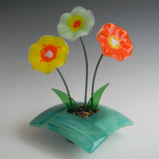 Glass Ikebana - Green Base