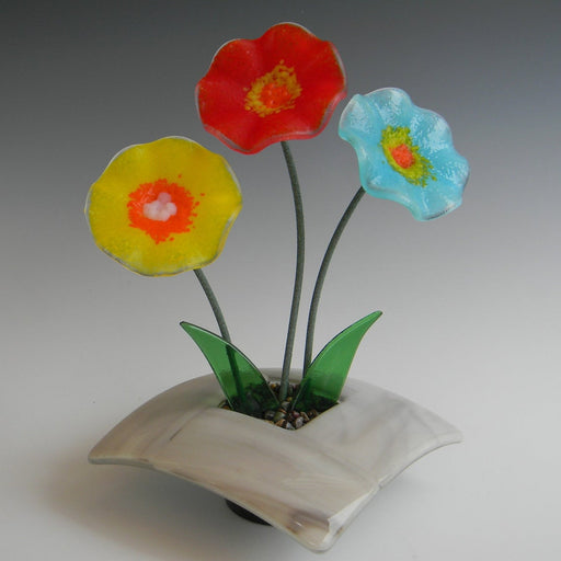 Glass Ikebana - Gray Base
