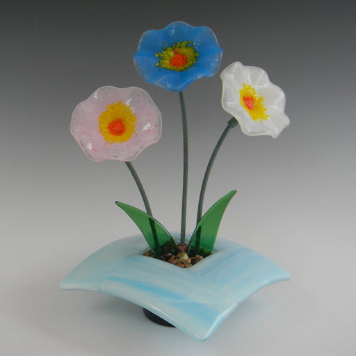Glass Ikebana - Blue Base