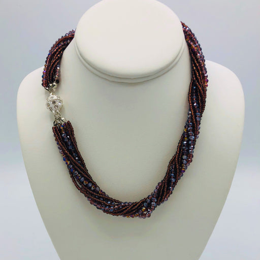 Necklace - Athena - Purple