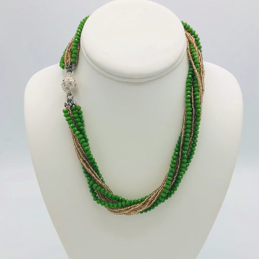 Necklace - Athena - Avocado