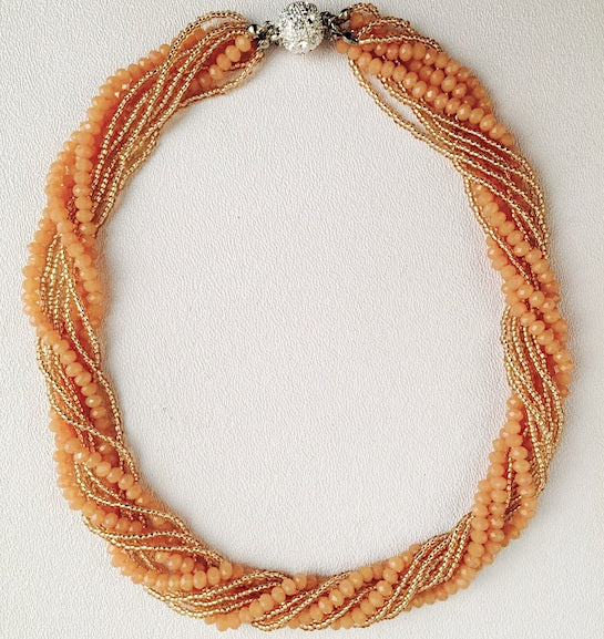 Necklace - Athena - Tangerine