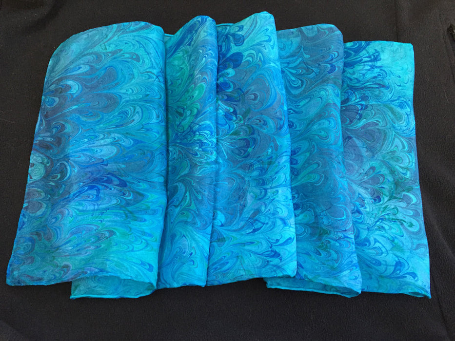 Silk Scarf - Jeweled Turquoise