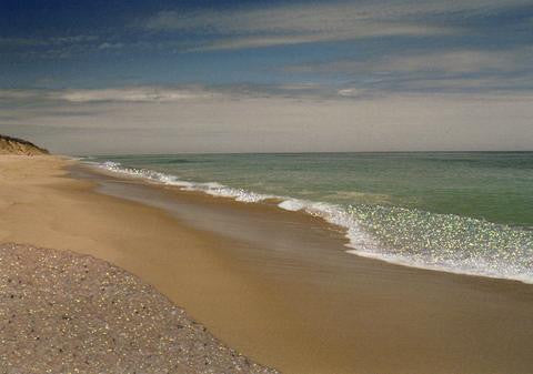 Glitter Photo Card - Seascape (H) - Cape Cod