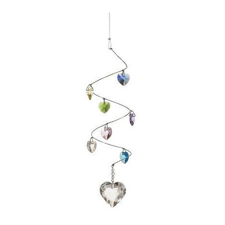Window Charm - Spiral Mobile Hearts