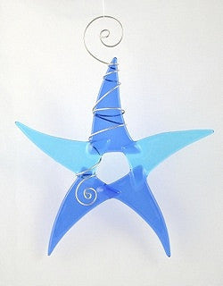 Sun Catcher - Simple Star - Large - 2Blue