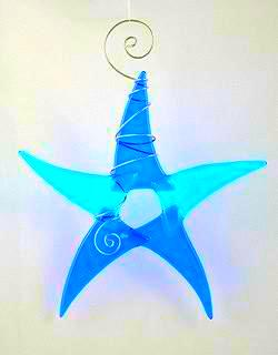 Sun Catcher - Simple Star - Small - 2Blue