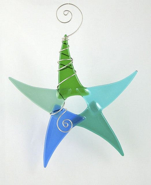 Sun Catcher - Simple Star - Large - Blue/Green